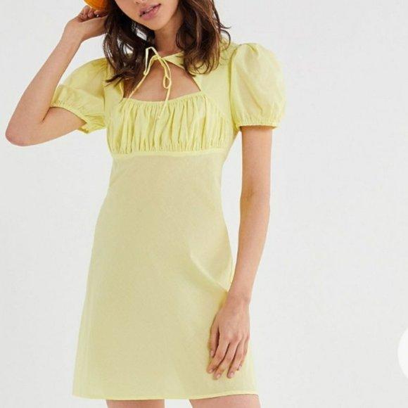 UO Tie Front Mini Dress